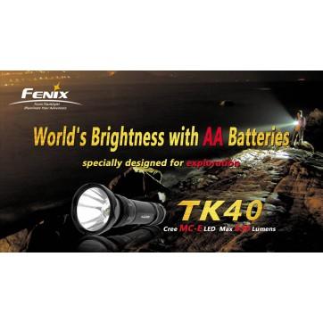 FENIX TK40 - 630 lumens Lampes Tactiques FENIX119,00 €