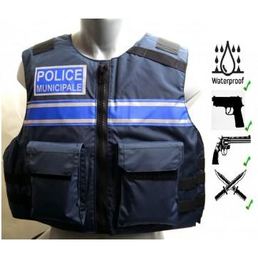 Gilet tactique PM à ferneture zip  Gilet POLICE / P-M490,00 €